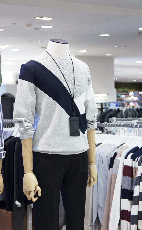 스판변형절개맨투맨티셔츠