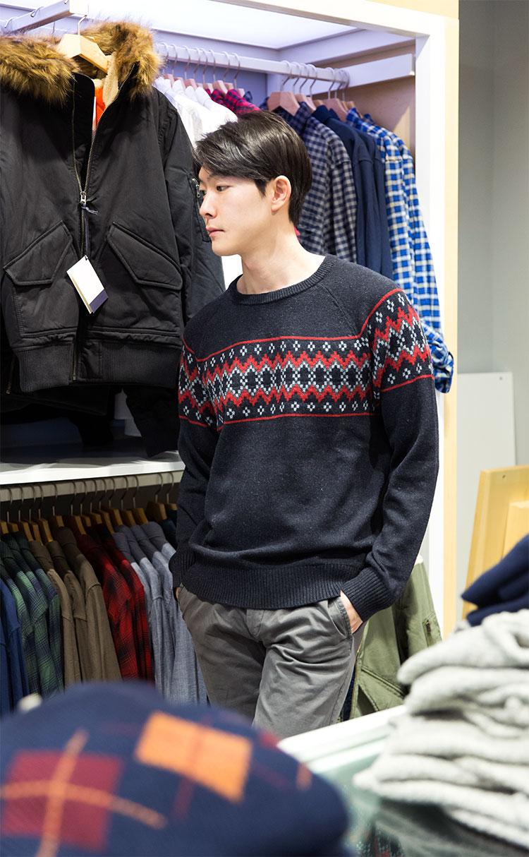 갭.페어아일 울 스웨터