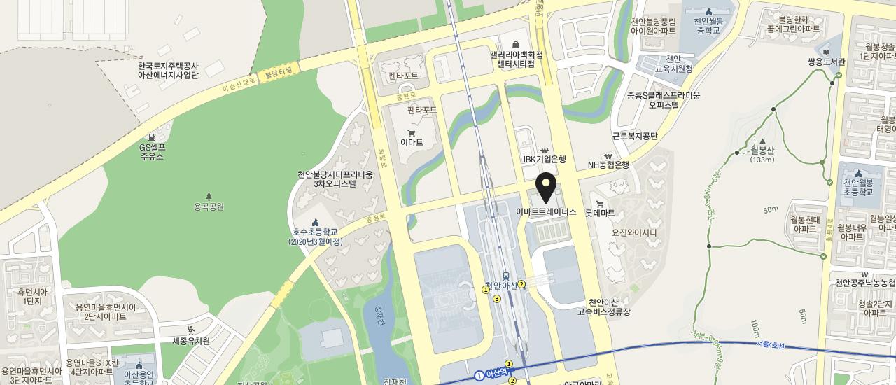 천안아산점 지도안내
