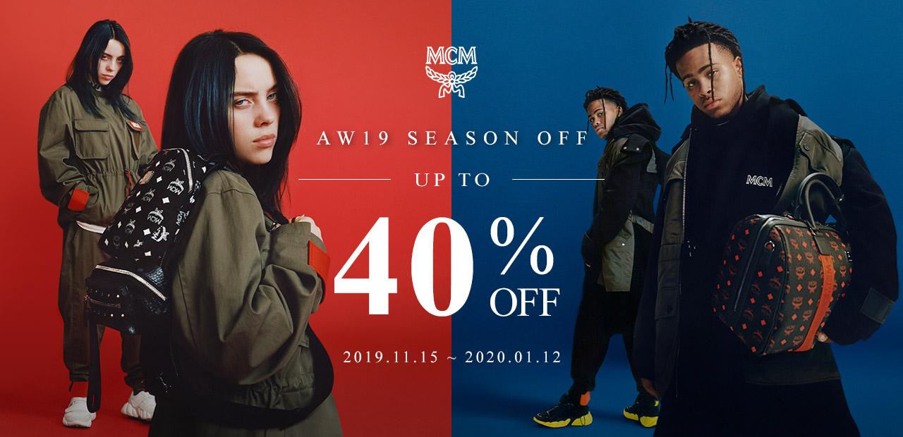 MCM A/W19 시즌오프 ~40%