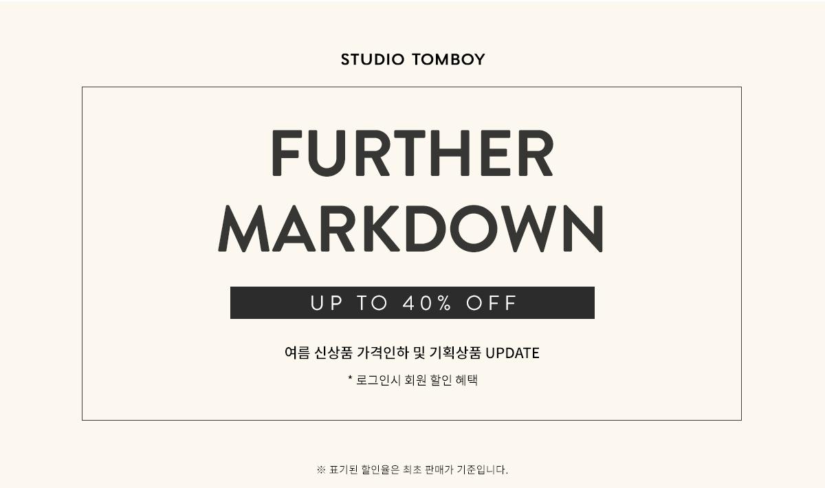 [스튜디오톰보이] 여름 신상품 가격인하! UP TO 40%